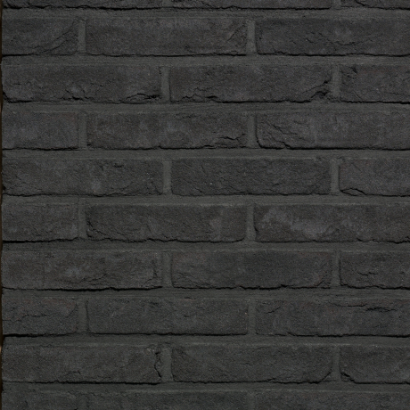 Packshot of a panel with Agora Grafietzwart facing bricks