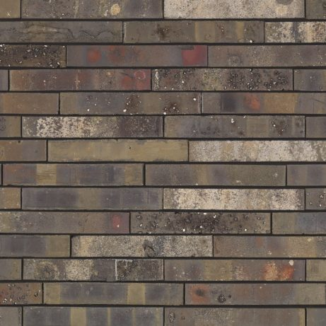 Archipolis Onyx Zwart facing bricks in a soft wild bond with a glued application