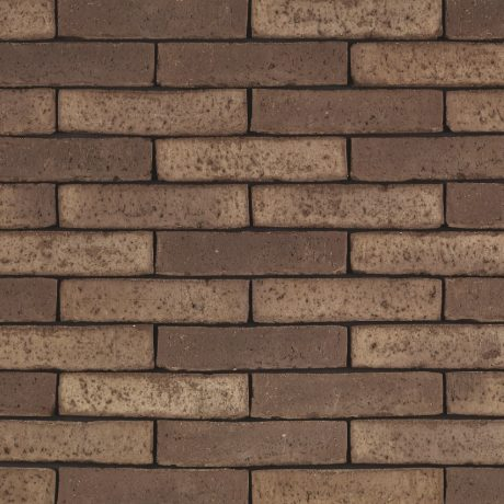 Latero Castana facing bricks in a running bond with a glued application
