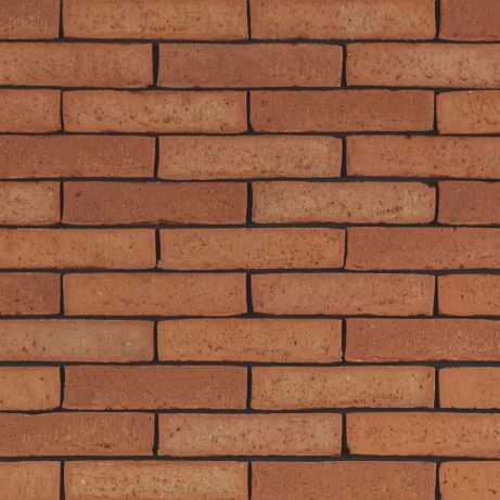 Latero Rubino facing bricks in a running bond with a glued application