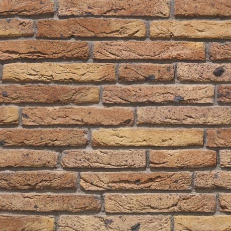 Linaqua Giallo facing bricks in a wild bond with a mortar application
