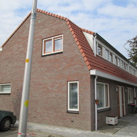 Renovation enclosed houses, Bierstraat-Stappedwarsstraat, Deventer, Oud Rose Klinker VB WF.