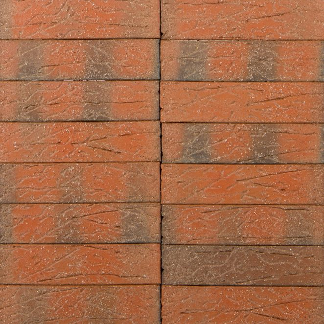 Terca Red flame F2F Sanded ceramic bricks from Aseri plant (Estonia)