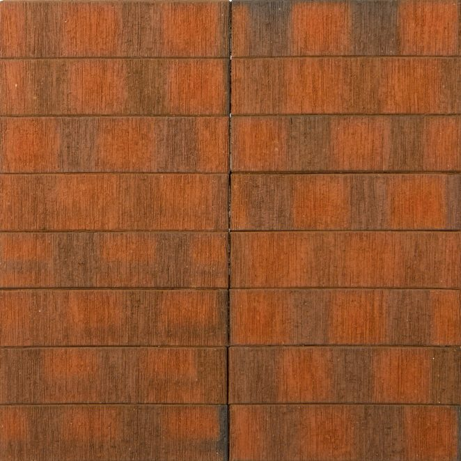 Terca Red flame F2F Brushed ceramic bricks from Aseri plant (Estonia)