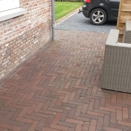 New construction garden, Private garden, Staphorst. Pavers: UDF Carpo getrommeld