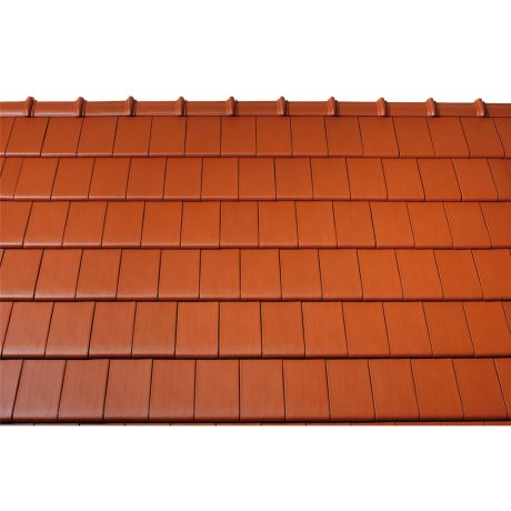 Surface image Tondach rooftile figaro deluxe engobe red, Flächenbild Tondach Figaro Deluxe Engobe rot